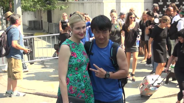 kelly rutherford at spring 2014 mercedes-benz fashion week in new york, ny, on 9/11/13. - mercedes benz fashion week stock videos & royalty-free footage
