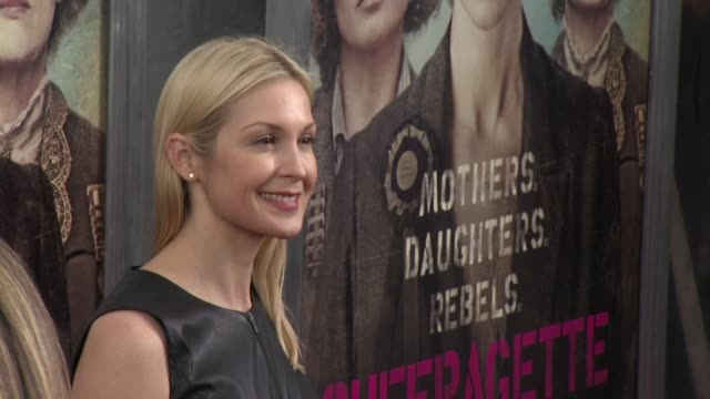 kelly rutherford at suffragette new york premiere presented by focus features at paris theatre on october 05 2015 in new york city - kelly rutherford stock videos & royalty-free footage
