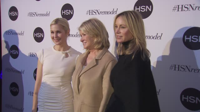 kelly rutherford martha stewart and dee hilfiger at hsn celebrates digital redesign at marquee on january 16 2013 in new york new york - kelly rutherford stock videos & royalty-free footage