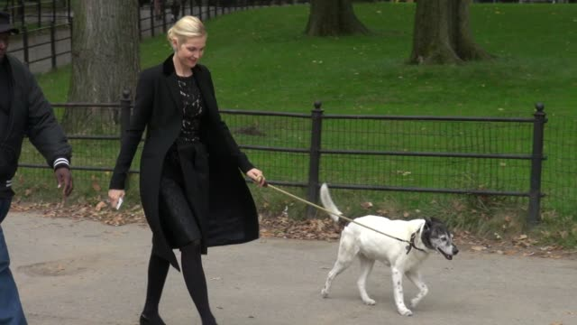 kelly rutherford on location for 'gossip girl' in central park in new york ny on 10/15/12 - kelly rutherford stock videos & royalty-free footage