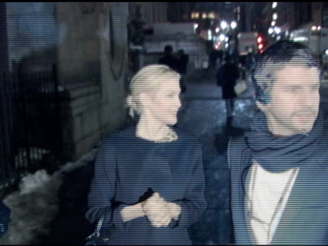 kelly rutherford outside the ecco domani show at new york fashion week at the celebrity sightings in new york at new york ny - kelly rutherford stock videos & royalty-free footage