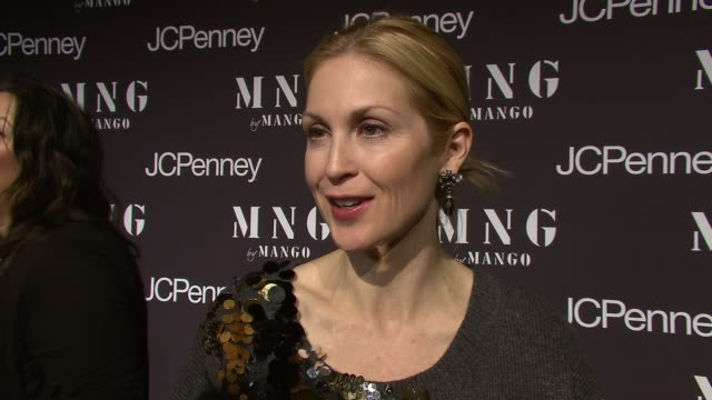 kelly rutherford talking about the love of shopping for gossip girl at the launch of mng by mango at jcpenney at new york ny - kelly rutherford stock videos & royalty-free footage