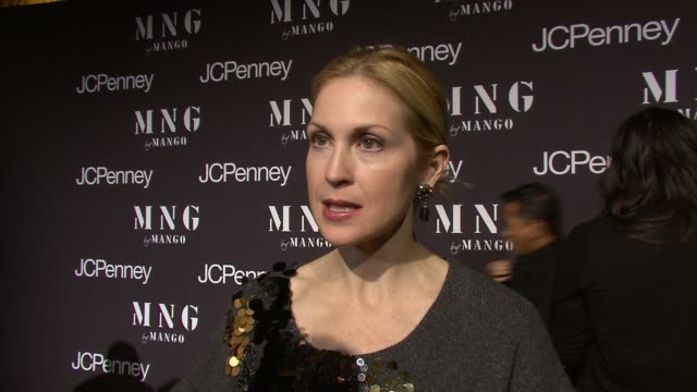 kelly rutherford talking about the new jc penney's hip clothing at the launch of mng by mango at jcpenney at new york ny - kelly rutherford stock videos & royalty-free footage
