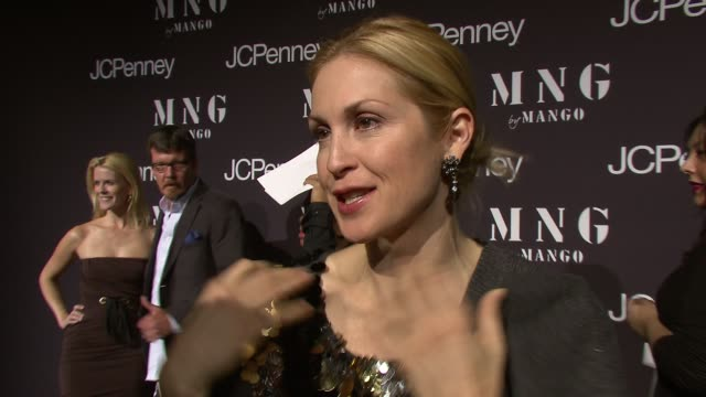 kelly rutherford talking about wearing mango and her daughter playing with it at the launch of mng by mango at jcpenney at new york ny - kelly rutherford stock videos & royalty-free footage