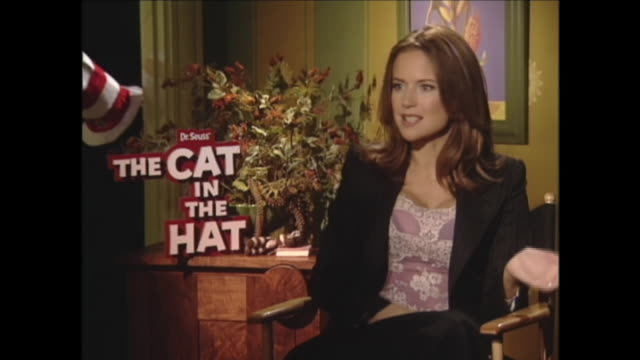 well i have always loved it i loved the cat in the hat but one fish 2 fish if i ran the zoo green eggs and ham i have always been a huge fan i have... - kelly preston stock-videos und b-roll-filmmaterial