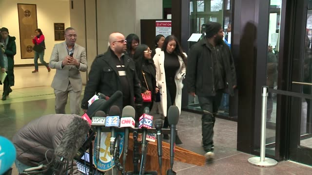 kelly's girlfriends, azriel clary and joycelyn savage, leave chicago courthouse during an r. kelly trial hearing on february 23, 2019. - r. kelly stock videos & royalty-free footage