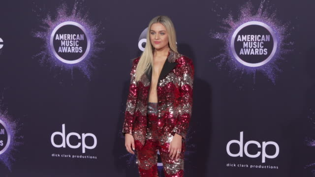 kelsea ballerini at the 2019 american music awards at microsoft theater on november 24 2019 in los angeles california - アメリカン・ミュージック・アワード点の映像素材/bロール