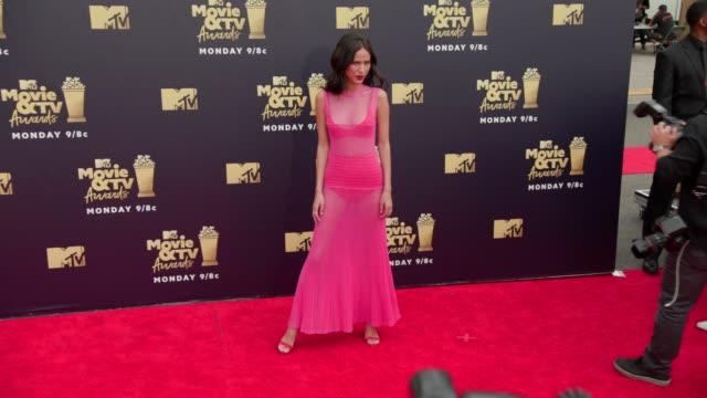 Kelsey Chow at 2018 MTV Movie TV Awards Arrivals at Barker Hangar on June 16 2018 in Santa Monica California