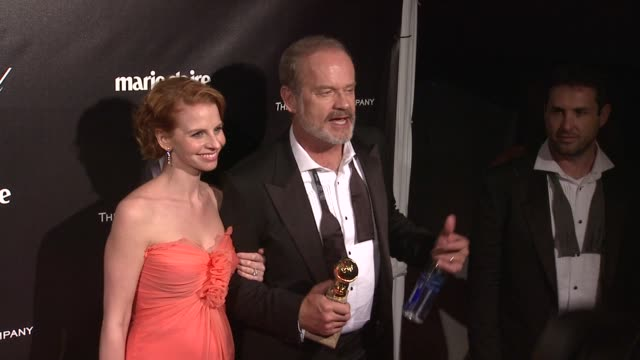 kelsey grammer at the weinstein company golden globe after-party at the beverly hilton hotel on 1/15/12 in los angeles, ca. - the beverly hilton hotel点の映像素材/bロール