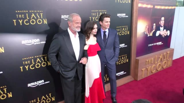 Kelsey Grammer Lily Collins Matt Bomer at the Amazon Original Series 'The Last Tycoon' Premiere at the Harmony Gold Preview House and Theater on July...