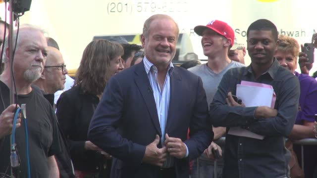 kelsey grammer on the outside set of the good morning america show in times square in celebrity sightings in new york, - new age stock videos & royalty-free footage