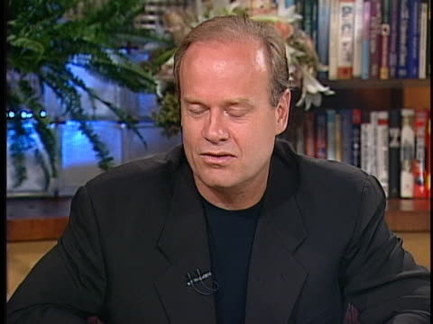 stockvideo's en b-roll-footage met kelsey grammer talks about the loss of frasier producer david angell, who died during the september 11 terrorist attacks, during a 2001 interview... - september 11 2001 attacks
