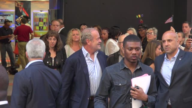 kelsey grammer walking to the outside set of the good morning america show in times square in celebrity sightings in new york, - new age stock videos & royalty-free footage