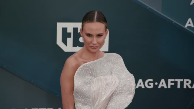 keltie knight at the 26th annual screen actors guild awards arrivals at the shrine auditorium on january 19 2020 in los angeles california - shrine auditorium stock videos & royalty-free footage