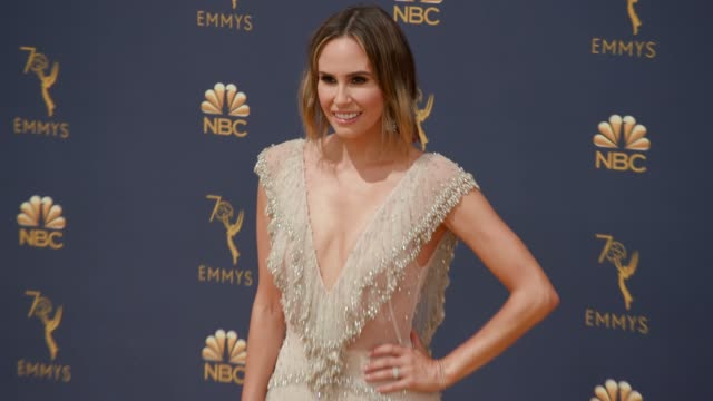 keltie knight at the 70th emmy awards arrivals at microsoft theater on september 17 2018 in los angeles california - 70th annual primetime emmy awards stock videos and b-roll footage