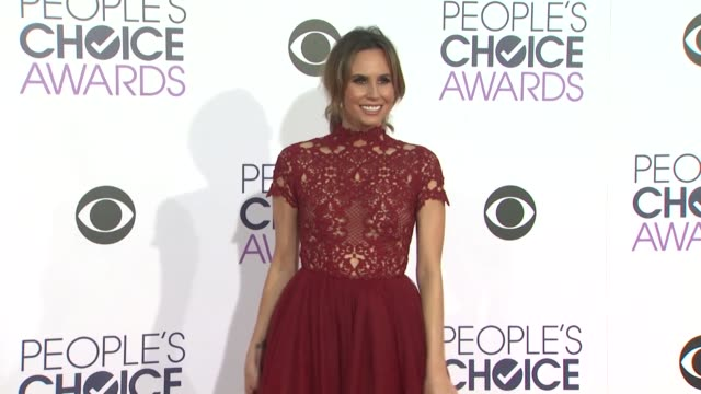Keltie Knight at the People's Choice Awards 2016 at Nokia Plaza LA LIVE on January 6 2016 in Los Angeles California