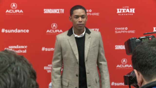 Kelvin Harrison Jr at the 'Monster' World Premiere 2018 Sundance Film Festival at Eccles Center Theatre on January 22 2018 in Park City Utah