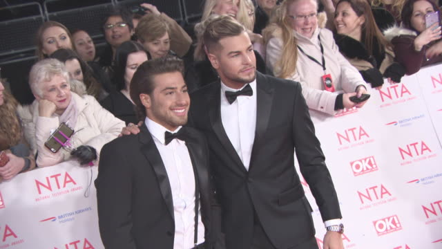 Kem Cetinay Chris Hughes at National Television Awards at The O2 Arena on January 23 2018 in London England