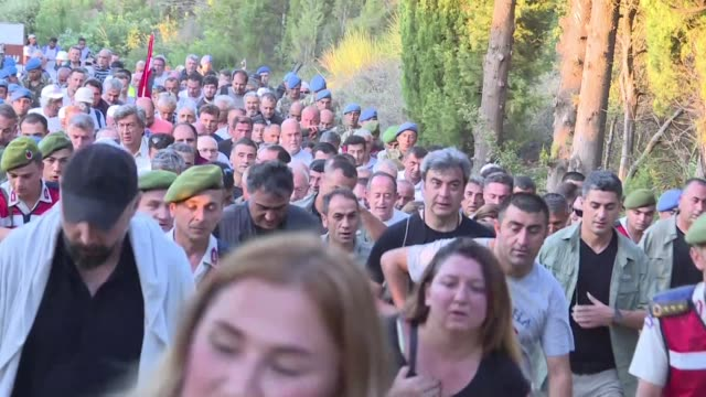 kemal kilicdaroglu head of turkey's opposition republican people's party retraces the route taken by turkish soldiers who fought allied forces in the... - allied forces stock videos and b-roll footage