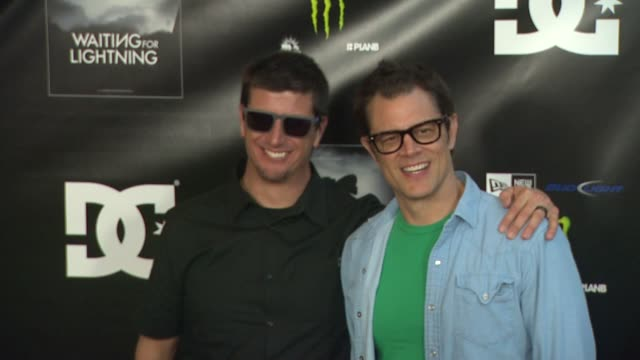 ken block johnny knoxville at waiting for lightning screening and afterparty presented by dc shoes a documentary about skateboarder danny way on... - dc shoes stock videos & royalty-free footage