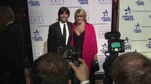 ken burns and julie deborah brown at the 2009 national arts awards at new york ny - ken burns stock videos and b-roll footage