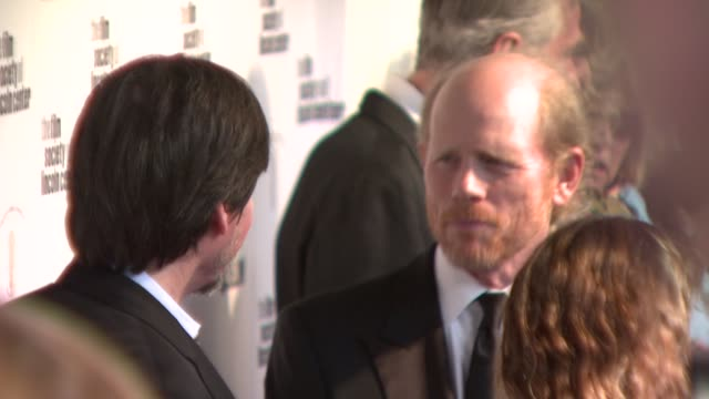 ken burns and ron howard at the film society of lincoln center's 36th gala tribute honoring tom hanks at new york ny - ken burns stock videos and b-roll footage