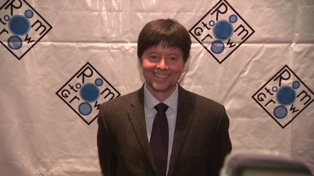 ken burns at room to grow fundraising gala benefit on 02/06/12 in new york - ken burns stock videos and b-roll footage