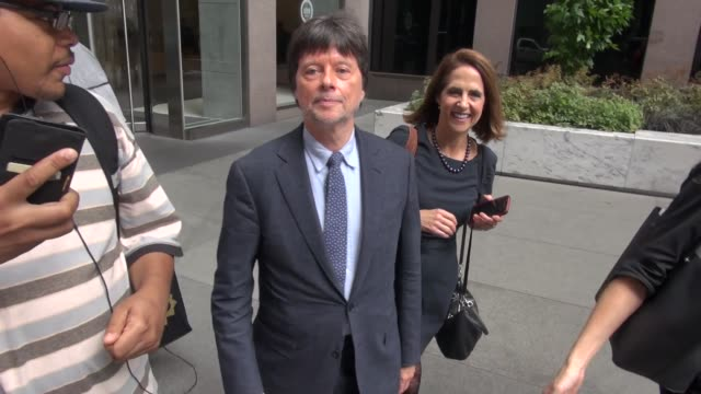 ken burns outside siriusxm satellite radio in new york in celebrity sightings in new york - ken burns stock videos and b-roll footage