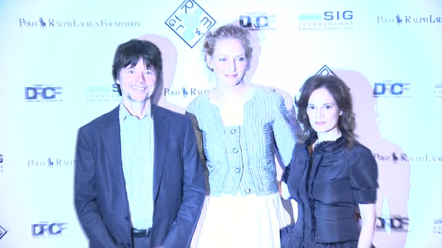 Ken Burns Uma Thurman and Julie Burns at 2014 Room To Grow Spring Gala at Capitale on April 8 2014 in New York City