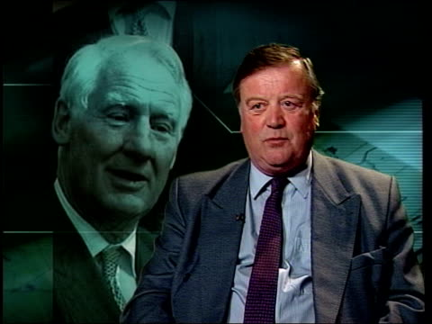 ken clarke mp interview sot - he's charming, he's graceful / won't wish to do anything to damage system / won't want to set a precedent that would... - anmut stock-videos und b-roll-filmmaterial