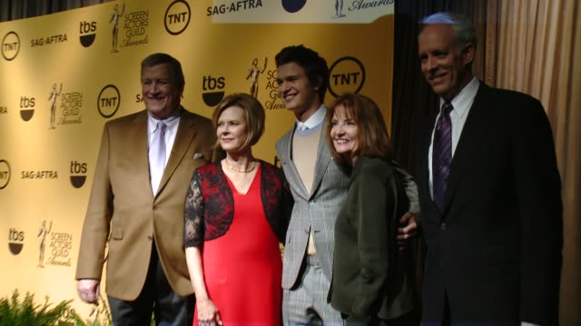 ken howard, jobeth williams, ansel elgort, kathy connell & daryl anderson at the 21st annual screen actors guild awards® nominations announcement at... - pacific design center stock videos & royalty-free footage