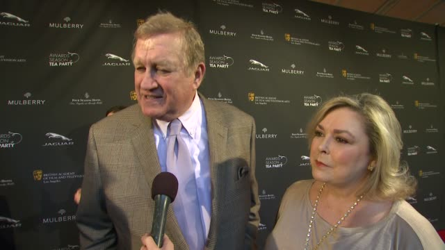 interview ken howard on being a part of the afternoon at bafta la 2014 awards season tea party at four seasons hotel los angeles at beverly hills on... - bafta la tea party stock videos and b-roll footage