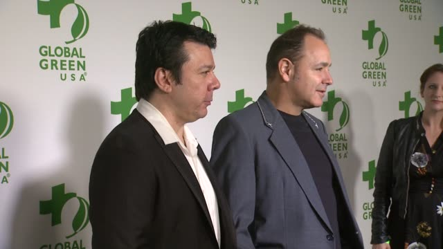 ken jordan and scott kirkland of the crystal method at the global green usa 11th annual pre-oscar® party at avalon on february 26, 2014 in hollywood,... - oscar party stock videos & royalty-free footage