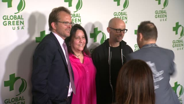 ken jordan, moby, matt petersen, and mary luevano at the global green usa 11th annual pre-oscar® partyat avalon on february 26, 2014 in hollywood,... - モービー点の映像素材/bロール