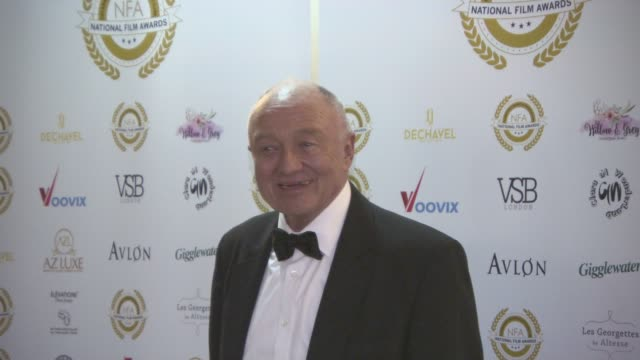 ken livingstone at the 4th annual national film awards at porchester hall on march 28, 2018 in london, england. - ポーチェスター点の映像素材/bロール