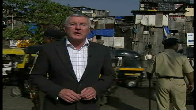 ken livingstone visits bollywood film set reporter to camera - bollywood stock videos and b-roll footage