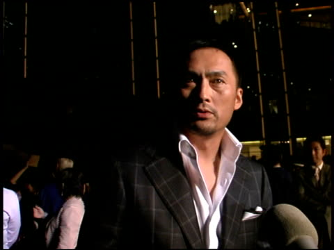 ken watanabe at the 'batman begins' press conference and premiere at roppongi hills in tokyo on may 31 2005 - roppongi hills stock videos and b-roll footage