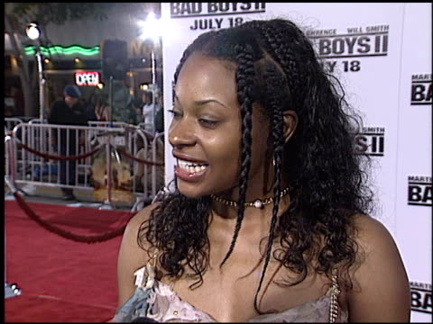 vídeos de stock, filmes e b-roll de kena zakia at the 'bad boys ii' premiere on july 9 2003 - bad boys ii