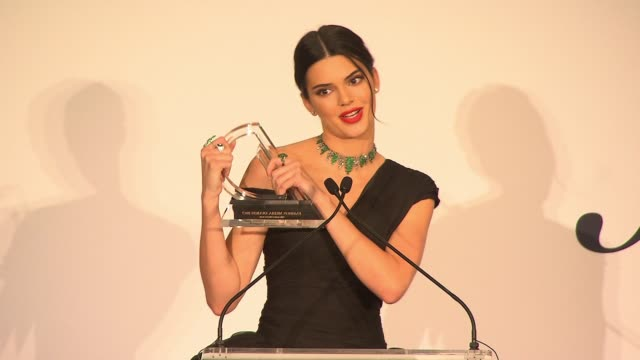 kendall jenner accepts her award at daily front row's fashion media awards at four seasons hotel new york downtown on september 08, 2017 in new york... - four seasons hotel stock videos & royalty-free footage