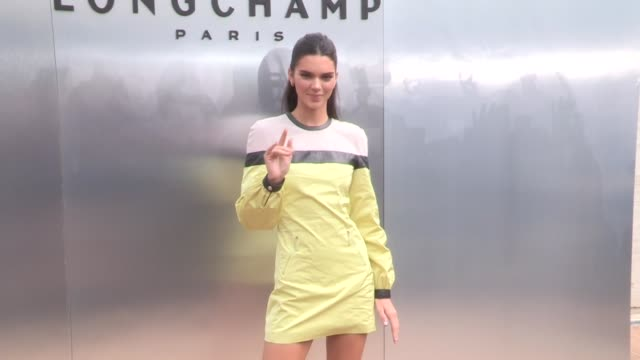 kendall jenner and longchamp ceo philippe cassegrain at the photocall for the longchamp spring summer 2020 fashion show in new york city new york... - new york fashion week stock videos & royalty-free footage