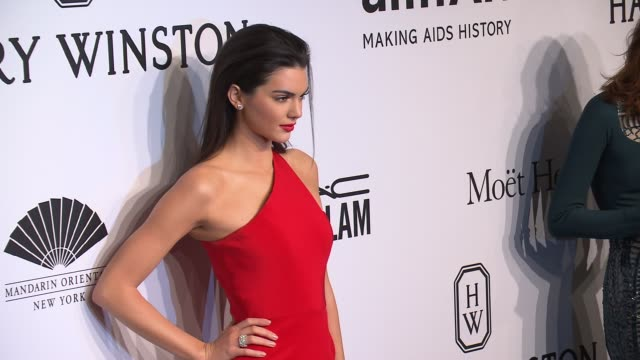 Kendall Jenner at 2015 amfAR New York Gala at Cipriani Wall Street on February 11 2015 in New York City