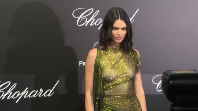 kendall jenner at chopard party the 71st annual cannes film festival on may 11 2018 in cannes france - 71st international cannes film festival stock videos & royalty-free footage