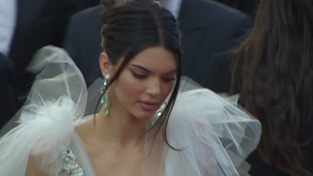 kendall jenner at 'girls of the sun' red carpet arrivals the 71st cannes film festival at grand theatre lumiere on may 12 2018 in cannes france - international cannes film festival stock videos & royalty-free footage