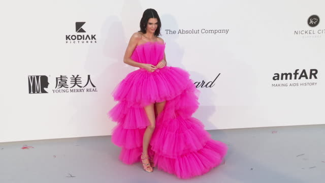 kendall jenner at the amfar cannes gala 2019 arrivals at hotel du capedenroc on may 23 2019 in cap d'antibes france - amfar stock videos & royalty-free footage