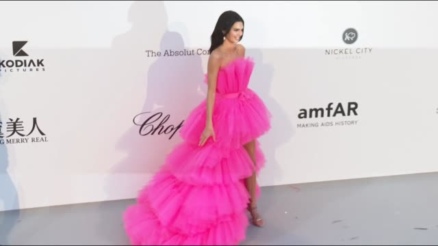 Kendall Jenner at the amfAR Cannes Gala 2019 during The 72nd Cannes Film Festival on May 14 2019 in Cannes France
