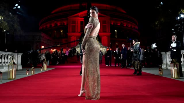 GIF Kendall Jenner at The Fashion Awards 2018 In Partnership With Swarovski at Royal Albert Hall on December 10 2018 in London England