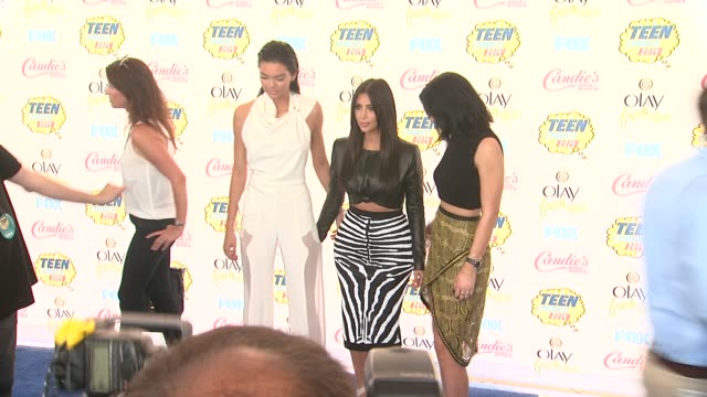 Kendall Jenner Kim Kardashian and Kylie Jenner at the Teen Choice Awards 2014 at The Shrine Auditorium on August 10 2014 in Los Angeles California