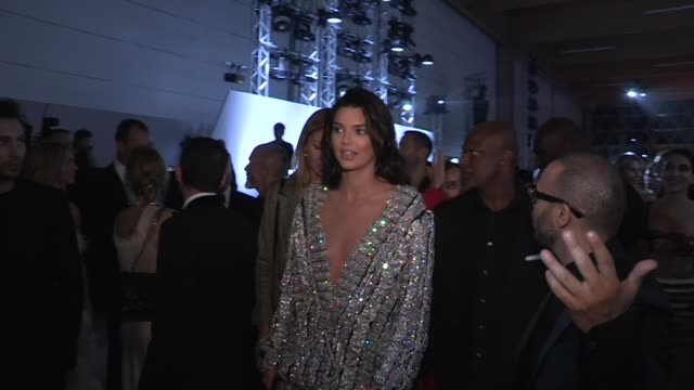 kendall jenner paris hilton carla bruni adrien brody caroline vreeland edward enninful mia frye front row of the fashion for relief in cannes cannes... - adrien brody stock videos and b-roll footage