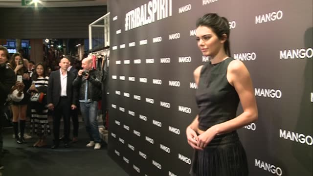 kendall jenner presents 'tribal spirit the secret party' by mango in barcelona - mango stock videos & royalty-free footage