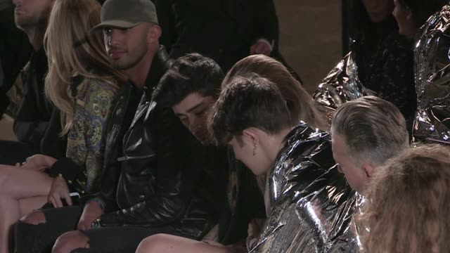 Kendall Jenner walk the runway in front of BFF Gigi Hadid and her boyfriend ONE Direction star Zayn Malik during the Givenchy Ready to Wear Fashion...
